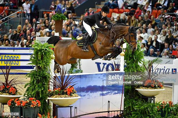 Edwina TopsAlexander of Australia riding Caretina de Joter during the Longines FEI World Cup Jumping Final event of the Gothenburg Horse Show at...