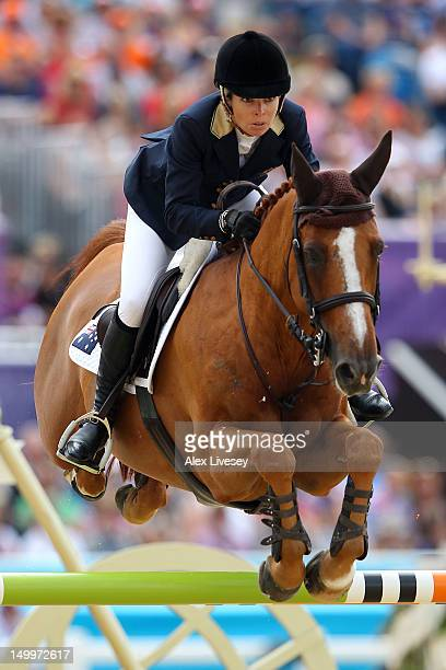 Edwina TopsAlexander of Australia riding Itot du Chateau competes in the Individual Jumping Equestrian on Day 12 of the London 2012 Olympic Games at...