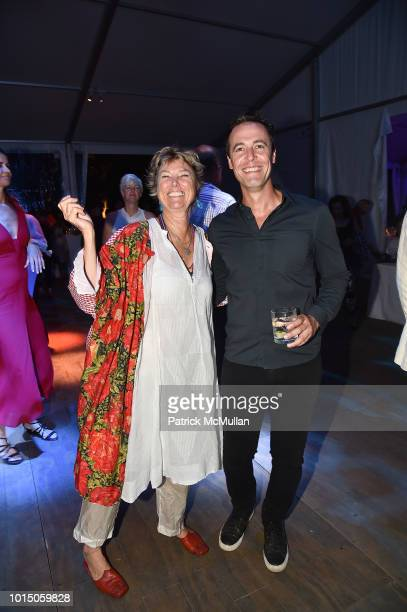 Edwina von Gal and Brian Halweil attend the Guild Hall Summer Gala 2018 at Guild Hall on August 10 2018 in East Hampton New York