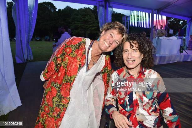 Edwina von Gal and Carlos Lama attend the Guild Hall Summer Gala 2018 at Guild Hall on August 10 2018 in East Hampton New York