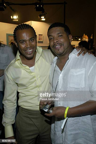 Edwing DeAngelo and Ramone Cameron attend Russell Simmons' 8th annual ART FOR LIFE EAST HAMPTON 2007 fundraiser at East Hampton on July 28 2007
