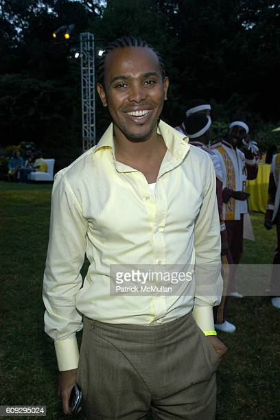 Edwing DeAngelo attends Russell Simmons' 8th annual ART FOR LIFE EAST HAMPTON 2007 fundraiser at East Hampton on July 28 2007