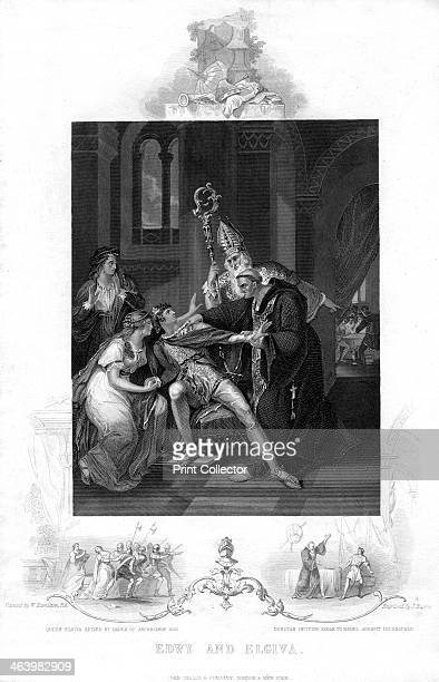 Edwy and Elgiva Queen Elgiva seized by order of Archbishop Odo and Dunstan inciting Edgar to rebel against his brother Edwy AllFair or Eadwig was the...
