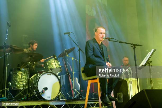 """Edwyn Collins performs on stage at Assembly Rooms as part of the """"Burns and Beyond"""" festival on January 23, 2020 in Edinburgh, Scotland."""