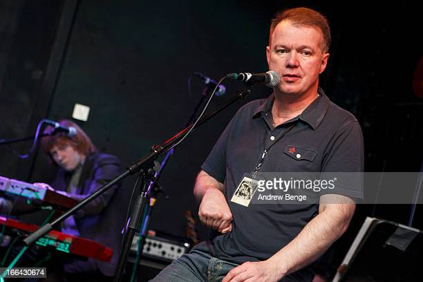 Edwyn Collins performs on stage at Brudenell Social Club on April 12 2013 in Leeds England