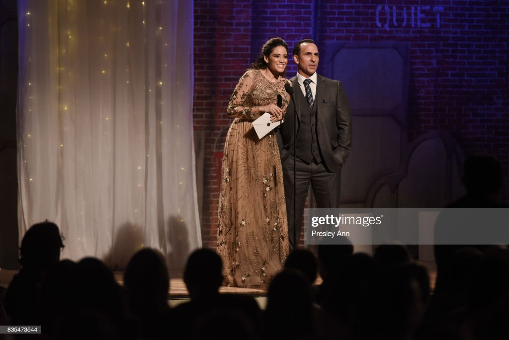 Edy Ganem and Oscar Torre attend 32nd Annual Imagen Awards - Inside at the Beverly Wilshire Four Seasons Hotel on August 18, 2017 in Beverly Hills, California.