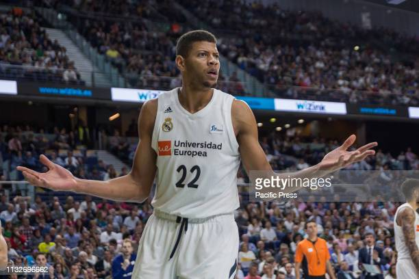 Edy Tavares during FC Barcelona Lassa victory over Real Madrid in Liga Endesa regular season game celebrated in Madrid at Wizink Center March 24th...