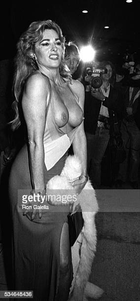 Edy Williams attends the screening of Legs on April 26 1983 at the Directors Guild Theater in Hollywood California