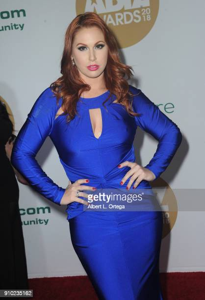 Edyn Blair arrives for the 2018 XBIZ Awards held at JW Marriot at LA Live on January 18 2018 in Los Angeles California