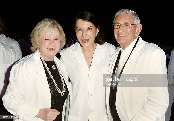 Edythe Broad performance artist Marina Abramovic and MOCA Gala Chair Eli Broad attend 2011 MOCA Gala An Artist's Life Manifesto Directed by Marina...