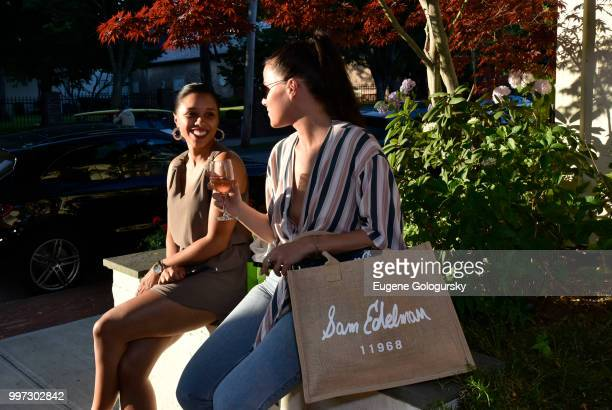 Edythe Collins and Savannah Donohoe attend the Modern Luxury Sam Edelman Summer Fashion Event on July 12 2018 in Southampton New York