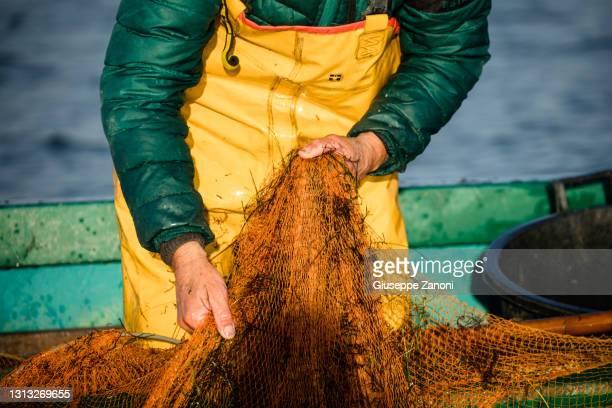 eel fishermen - orbetello bildbanksfoton och bilder
