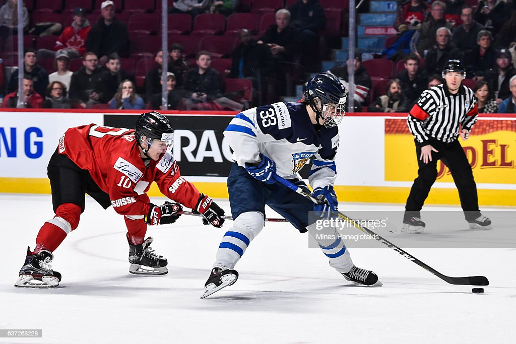 Finland v Switzerland - 2017 IIHF World Junior Championship : News Photo