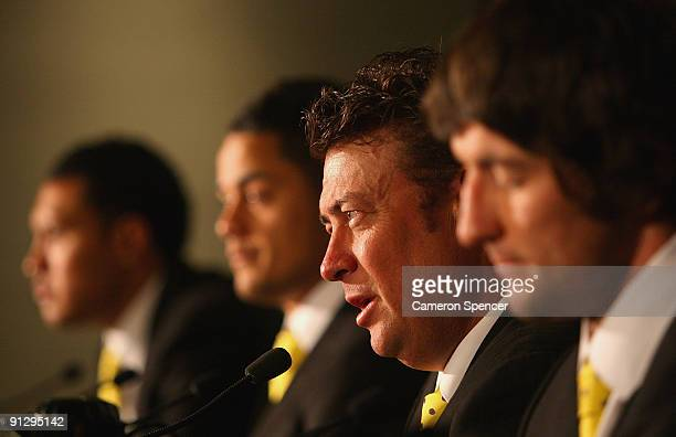Eels coach Daniel Anderson talks during a media conference following the 2009 NRL Grand Final Breakfast at Sydney Convention & Exhibition Centre on...