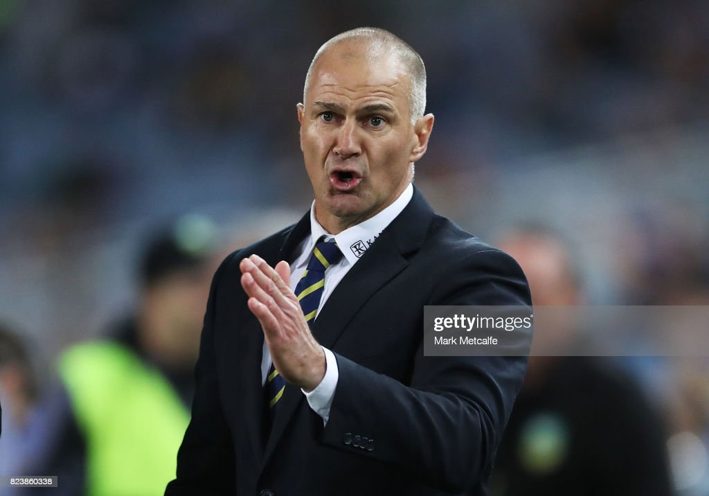 Eels head coach Brad Arthur looks on during the round 21 NRL match between the Parramatta Eels and the Brisbane Broncos at ANZ Stadium on July 28, 2017 in Sydney, Australia.