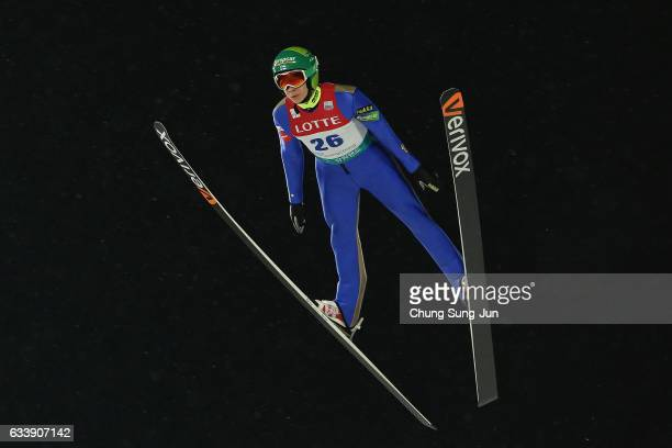 Eero Hirvonen of Finland competes in the Individual Gundersen LH 10km during the FIS Nordic Combined World Cup presented by Viessmann Test Event For...