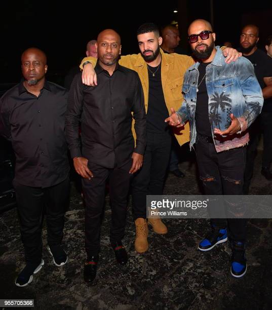 Efe Alex Gidewon Drake and Kenny Burns attend Gold Room Saturday Nights at Gold Room on May 6 2018 in Atlanta Georgia