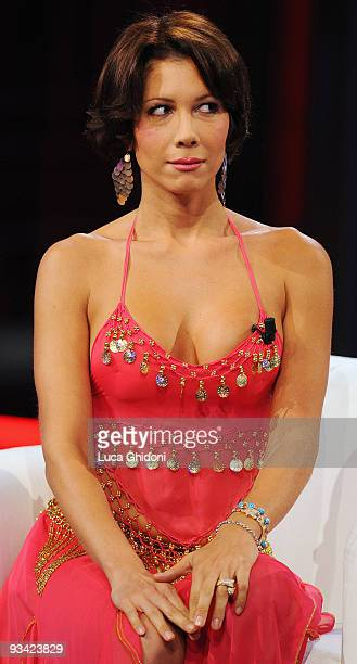 Efe Bal appears on the Italian television show Chiambretti Night on November 25 2009 in Milan Italy