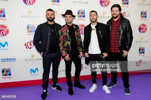 Efecto Pasillo music band attend 'La Noche De Cadena 100' charity concert at WiZink Center on March 24 2018 in Madrid Spain