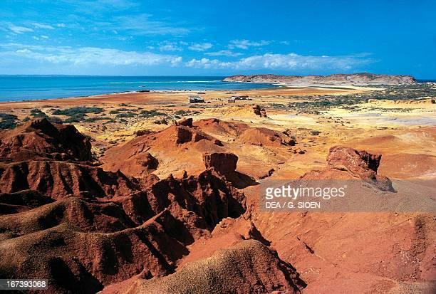 Effects of erosion, Araya Peninsula, State of Sucre, Venezuela.