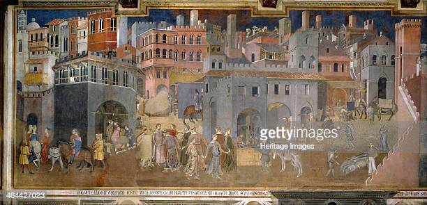 Effects of Good Government in the city 13381339 Found in the collection of the Palazzo Pubblico Torre del Mangia Siena