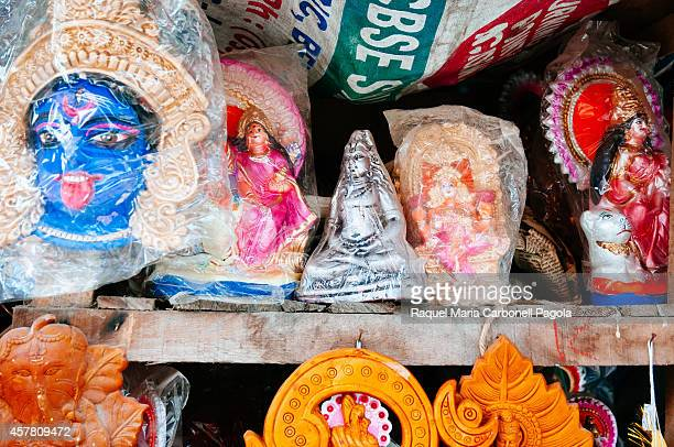 Effigies of gods in a workshop in Kumartuli district