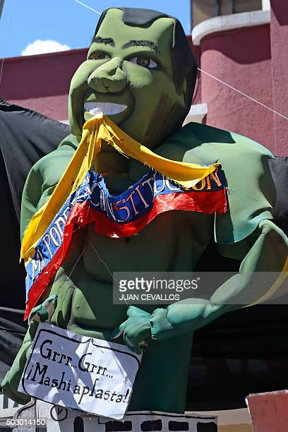 Effigies of political artistic and social characters that generated news in 2015 are being sold in the streets of Quito as a tradition at the end of...