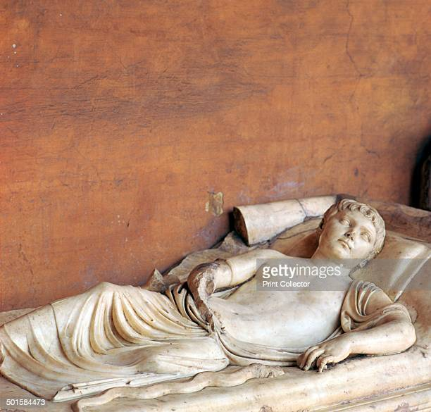 Effigy of a youth on a Roman sarcophagus now in the National Archaeological Museum in Rome 2nd century