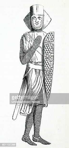 Effigy of Geoffrey de Mandeville 1st Earl of Essex a prominent figure during the reign of King Stephen of England Dated 12th Century