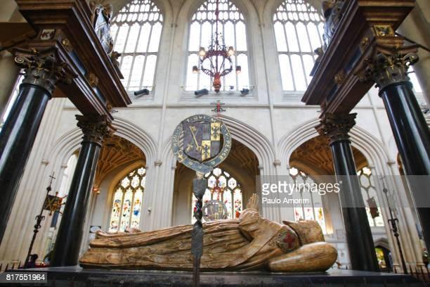 Effigy of James Montagu Bishop of Bath in England