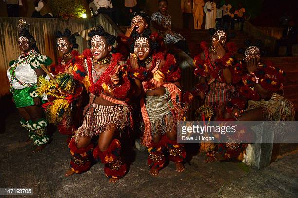 Efik dancers perform for delegates as they gather from 56 African nations for the UN World Tourism Organisation's conference on Africa held in the...