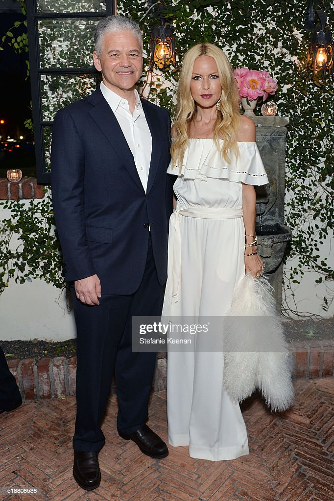 Efraim Grinberg and Rachel Zoe attend a dinner celebrating Kerry Washington hosted by ELLE, Editor-In-Chief, Robbie Myers and Movado, Chairman & CEO, Efraim Grinberg at A.O.C. on April 2, 2016 in Los Angeles, California.