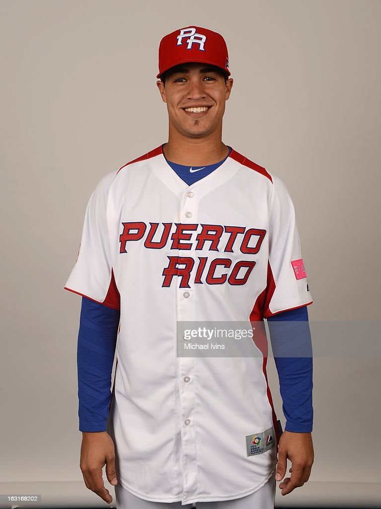 Efrain Nieves #65 of Team Puerto Rico poses for a headshot for the 2013 World Baseball Classic at the City of Palms Baseball Complex on Monday, March 4, 2013 in Fort Myers, Florida.