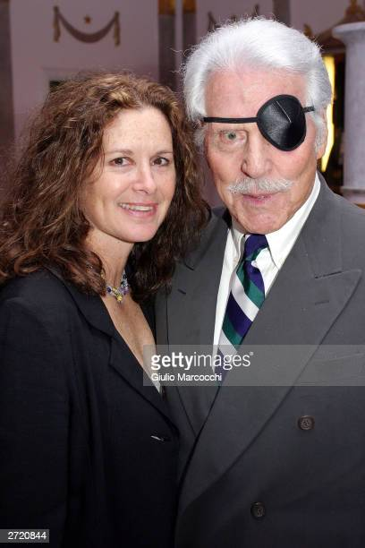 Efrem Zimbalist Jr and Stephanie Zimbalist Jr attend My Dinner of Herbs event at The Hollywood History Museum on November 11 2003 in Hollywood...