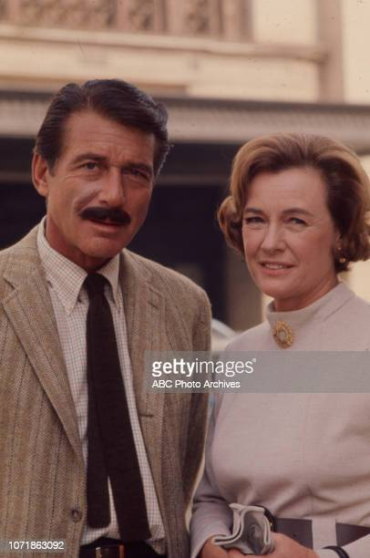 Efrem Zimbalist Jr Phyllis Thaxter appearing in the Walt Disney Television via Getty Images series 'The FBI' episode 'The Replacement'