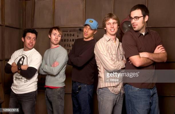 Efren Ramirez, Aaran Ruell, Jon Gries, Jon Heder and Jared Hess, director