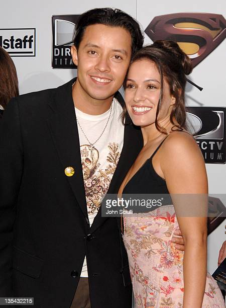 """Efren Ramirez and Christina DeRosa during """"Superman Returns"""" World Premiere Sponsored By Belstaff at Mann Village and Bruin Theaters in Westwood,..."""