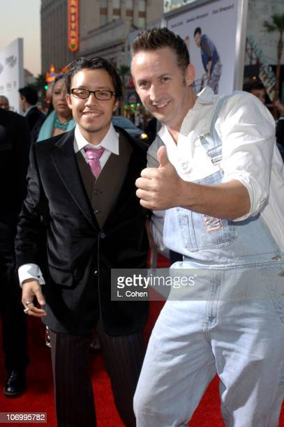 Efren Ramirez and Harland Williams during 'Employee of the Month' Premiere Red Carpet at Mann's Chinese Theater in Hollywood California United States