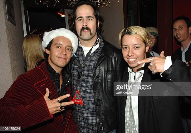 Efren Ramirez Ronnie Vannucci Jr of The Killers and Carlos Ramirez