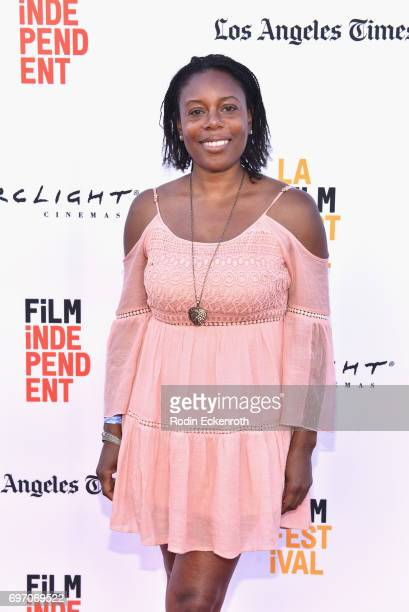 Efuru Flowers attends Shorts Program 1 during the 2017 Los Angeles Film Festival at Arclight Cinemas Culver City on June 17 2017 in Culver City...