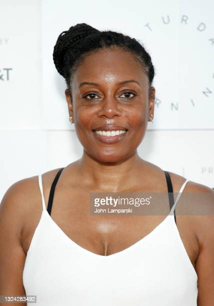 """Efuru Flowers attends the """"8:46 Films"""" premiere during the 2021 Tribeca Festival at Pier 76 on June 18, 2021 in New York City."""
