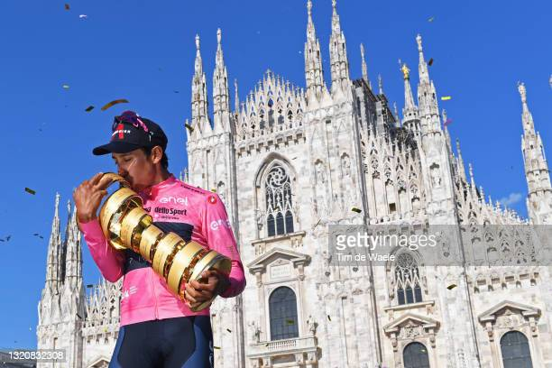 Egan Arley Bernal Gomez of Colombia and Team INEOS Grenadiers Pink Leader Jersey during the 104th Giro d'Italia 2021, Stage 21 a 30,3km Individual...