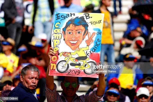 Egan Arley Bernal Gomez of Colombia and Team INEOS / Public / Fans / Detail view / during the 3rd Tour of Colombia 2020, Team Presentation on La...