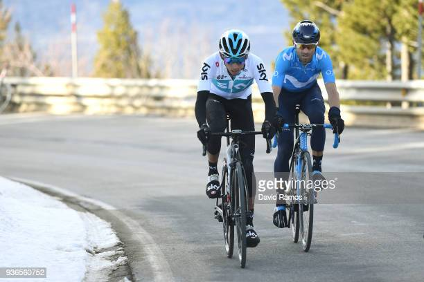 Egan Arley Bernal Gomez of Colombia and Team Sky / Alejandro Valverde Belmonte of Spain and Team Movistar / during the 98th Volta Ciclista a...