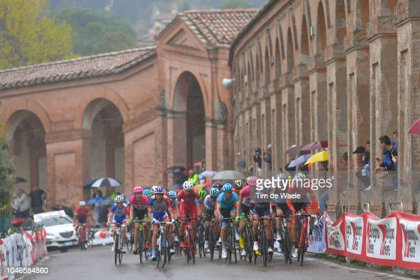 Egan Arley Bernal Gomez of Colombia and Team Sky / Hugh Carthy of Great Britain and Team EF Education First Drapac P/B Cannondale / Thibaut Pinot of...