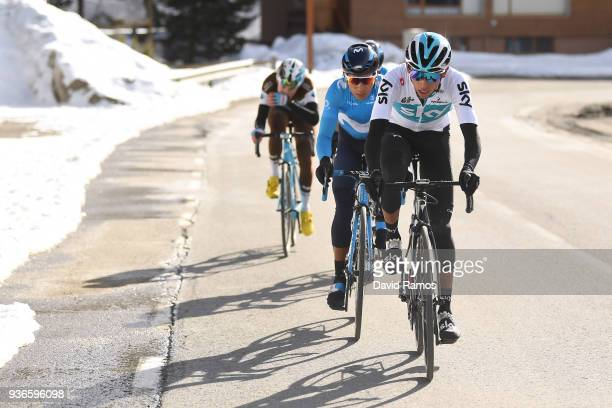 Egan Arley Bernal Gomez of Colombia and Team Sky / Nairo Quintana of Colombia and Team Movistar / during the 98th Volta Ciclista a Catalunya 2018,...