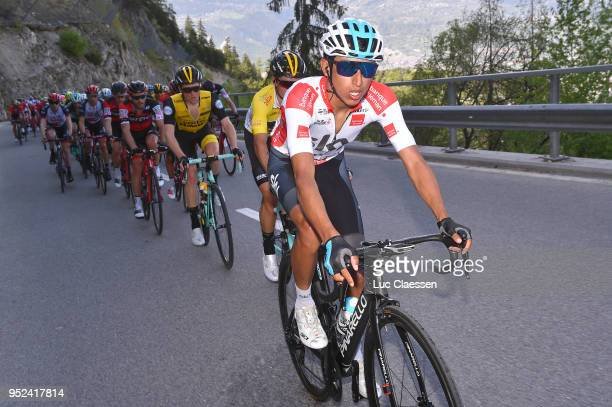 Egan Arley Bernal Gomez of Colombia and Team Sky / White young riders jersey / during the 72nd Tour de Romandie 2018 Stage 4 a 1492km stage from Sion...