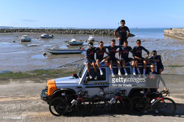 Egan Arley Bernal Gomez of Colombia, Andrey Amador Bikkazakova of Costa Rica, Richard Carapaz of Ecuador, Jonathan Castroviejo of Spain, Michal...