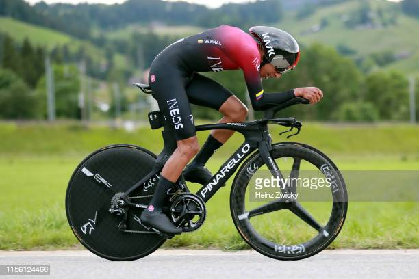 Egan Arley Bernal of Colombia and Team INEOS / during the 83rd Tour of Switzerland, Stage 1 a 9,5km Individual Time Trial from Langnau im Emmental to...