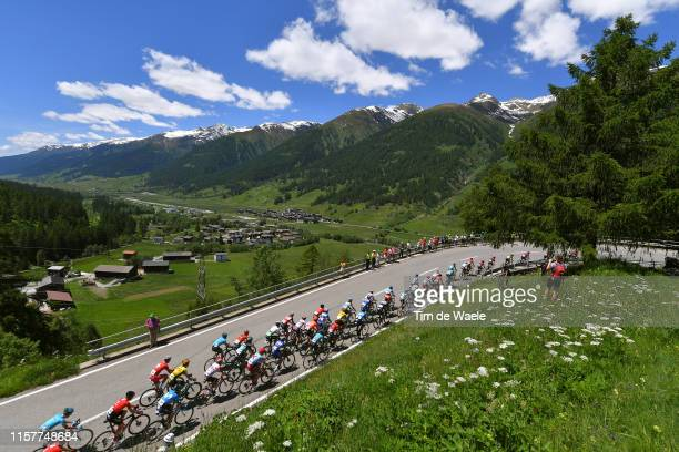 Egan Arley Bernal of Colombia and Team INEOS Yellow Leader Jersey / Ulrichen / Peloton / Landscape / Mountains / Snow / wduring the 83rd Tour of...